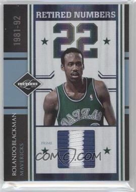 2010-11 Limited Retired Numbers Materials Prime #3 - Rolando Blackman /10