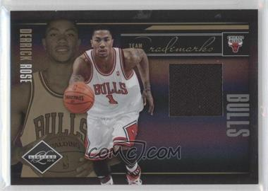 2010-11 Limited Team Trademarks Materials #7 - Derrick Rose /49