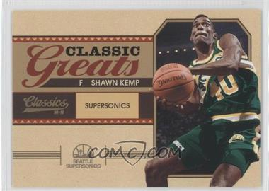 2010-11 Panini Classics Classic Greats Gold #15 - Shawn Kemp /100
