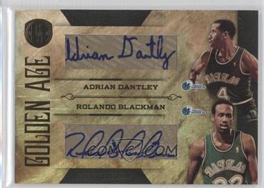 2010-11 Panini Gold Standard - Golden Age Dual - Signatures [Autographed] #8 - Adrian Dantley, Rolando Blackman /50