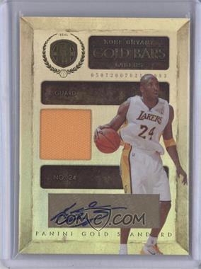 2010-11 Panini Gold Standard Gold Bars Memorabilia Signatures [Autographed] [Memorabilia] #24 - Kobe Bryant /24