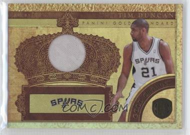 2010-11 Panini Gold Standard Gold Crowns Memorabilia [Memorabilia] #23 - Tim Duncan /249