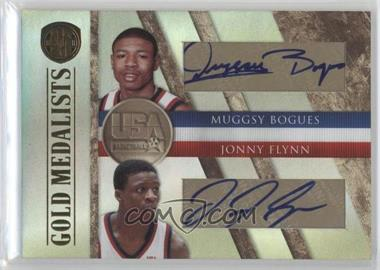 2010-11 Panini Gold Standard Gold Medalists Dual Signatures [Autographed] #4 - Muggsy Bogues, Jonny Flynn /50