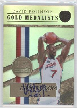 2010-11 Panini Gold Standard Gold Medalists Signatures [Autographed] #20 - David Robinson /10
