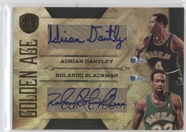 2010-11 Panini Gold Standard Golden Age Dual Signatures [Autographed] #8 - Adrian Dantley, Rolando Blackman /50