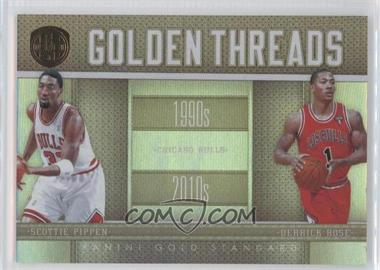 2010-11 Panini Gold Standard Golden Threads #7 - Derrick Rose, Scottie Pippen /299