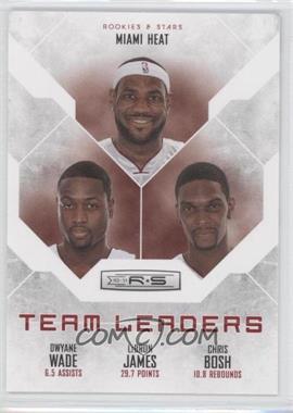 2010-11 Panini Rookies & Stars - Team Leaders #15 - Chris Bosh, Dwyane Wade, LeBron James