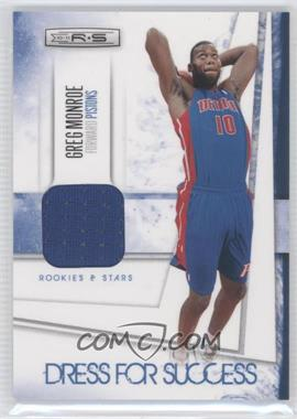 2010-11 Panini Rookies & Stars Dress for Success Memorabilia #15 - Greg Monroe /299