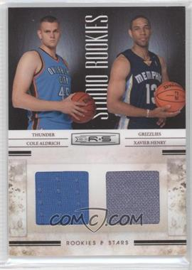 2010-11 Panini Rookies & Stars Studio Combo Rookies Materials [Memorabilia] #7 - Cole Aldrich, Xavier Henry /399