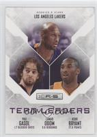 Kobe Bryant, Pau Gasol, Lamar Odom