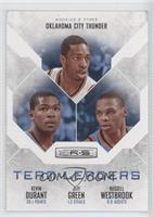 Jeff Green, Russell Westbrook, Kevin Durant