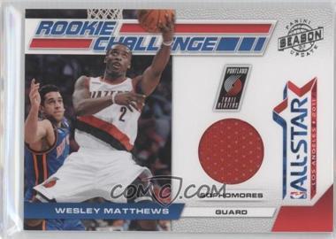 2010-11 Panini Season Update - Rookie Challenge - Materials [Memorabilia] #15 - Wesley Matthews /799