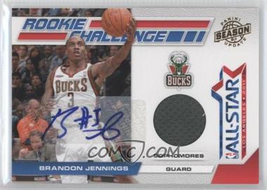 2010-11 Panini Season Update - Rookie Challenge - Materials Signatures [Autographed] [Memorabilia] #8 - Brandon Jennings /25