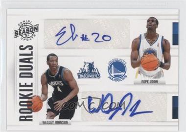 2010-11 Panini Season Update - Rookie Duals Signatures - [Autographed] #10 - Ekpe Udoh, Wesley Johnson /25