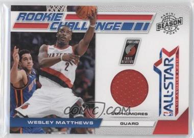 2010-11 Panini Season Update Rookie Challenge Materials [Memorabilia] #15 - Wesley Matthews /799