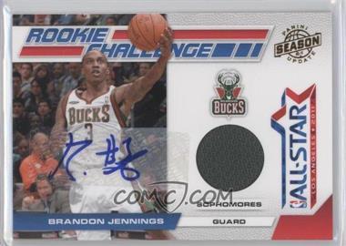 2010-11 Panini Season Update Rookie Challenge Materials Signatures [Autographed] [Memorabilia] #8 - Brandon Jennings /25