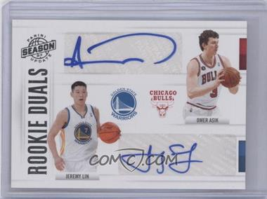 2010-11 Panini Season Update Rookie Duals Signatures [Autographed] #60 - Jeremy Lin, Omer Asik /99