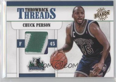 2010-11 Panini Season Update Throwback Threads Prime #14 - Chuck Person /49