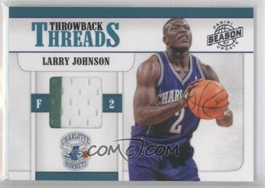 2010-11 Panini Season Update Throwback Threads #4 - Larry Johnson /299