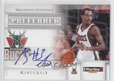 2010-11 Panini Starting 5 Preferred Signatures [Autographed] #BJ - Brandon Jennings