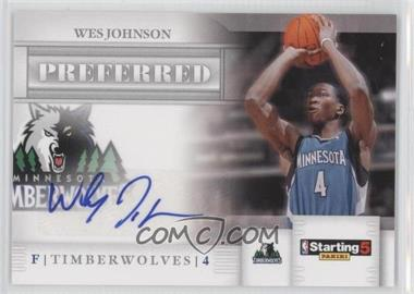 2010-11 Panini Starting 5 Preferred Signatures [Autographed] #WJ - Wesley Johnson