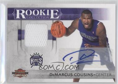 2010-11 Panini Threads Rookie Collection Materials Autograph [Autographed] #5 - DeMarcus Cousins /50