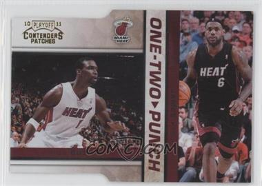 2010-11 Playoff Contenders One-Two Punch Gold Die-Cut #11 - Chris Bosh, Lebron James /99