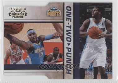 2010-11 Playoff Contenders One-Two Punch Gold Die-Cut #14 - Nenê, Carmelo Anthony /99