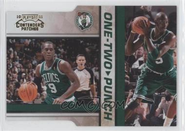 2010-11 Playoff Contenders One-Two Punch Gold Die-Cut #3 - Rajon Rondo, Kevin Garnett /99