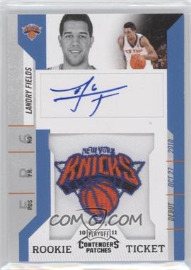 2010-11 Playoff Contenders Patches - [Base] #145 - Rookie Ticket Autograph - Landry Fields