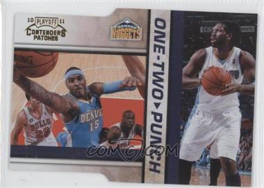 2010-11 Playoff Contenders Patches - One-Two Punch - Gold Die-Cut #14 - Nene, Carmelo Anthony /99