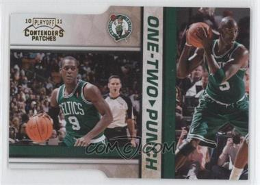 2010-11 Playoff Contenders Patches - One-Two Punch - Gold Die-Cut #3 - Rajon Rondo, Kevin Garnett /99