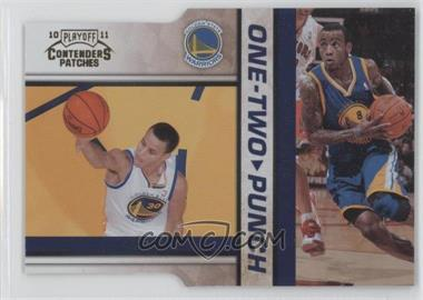 2010-11 Playoff Contenders Patches - One-Two Punch - Gold Die-Cut #6 - Stephen Curry, Monta Ellis /99