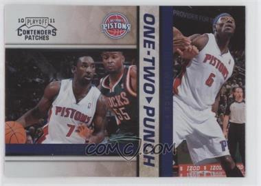 2010-11 Playoff Contenders Patches - One-Two Punch #13 - Ben Gordon, Ben Wallace