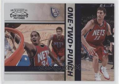 2010-11 Playoff Contenders Patches - One-Two Punch #15 - Devin Harris, Brook Lopez