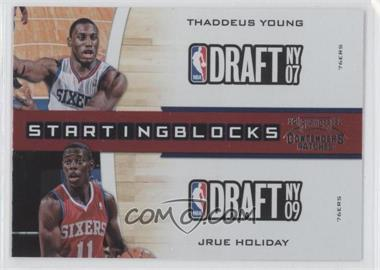 2010-11 Playoff Contenders Patches - Starting Blocks #17 - Thaddeus Young, Jrue Holiday