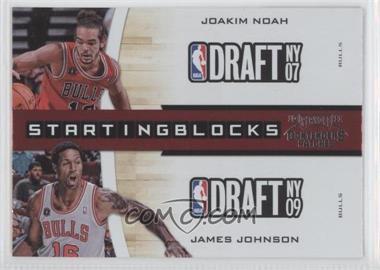 2010-11 Playoff Contenders Patches - Starting Blocks #18 - Joakim Noah, James Johnson