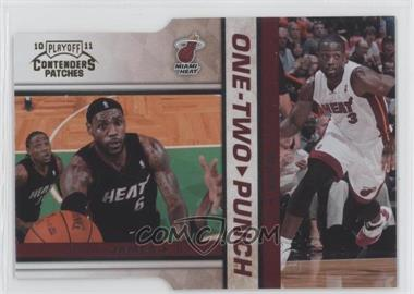 2010-11 Playoff Contenders Patches One-Two Punch Gold Die-Cut #10 - Lebron James, Dwyane Wade /99