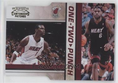 2010-11 Playoff Contenders Patches One-Two Punch Gold Die-Cut #11 - Chris Bosh, Lebron James /99