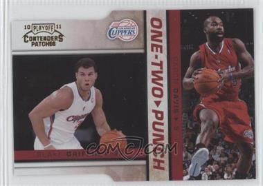 2010-11 Playoff Contenders Patches One-Two Punch Gold Die-Cut #12 - Blake Griffin, Baron Davis /99