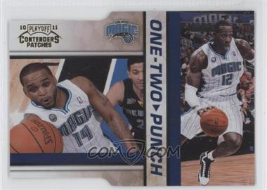 2010-11 Playoff Contenders Patches One-Two Punch Gold Die-Cut #17 - Jameer Nelson, Dwight Howard /99
