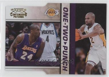 2010-11 Playoff Contenders Patches One-Two Punch Gold Die-Cut #24 - Kobe Bryant, Derek Fisher /99