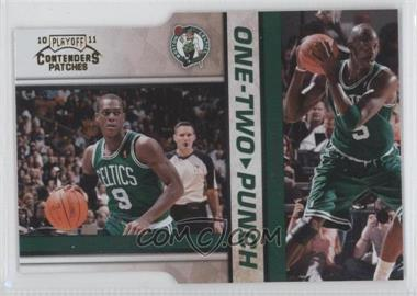 2010-11 Playoff Contenders Patches One-Two Punch Gold Die-Cut #3 - Rajon Rondo, Kevin Garnett /99