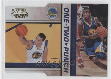 2010-11 Playoff Contenders Patches One-Two Punch Gold Die-Cut #6 - Stephen Curry, Monta Ellis /99