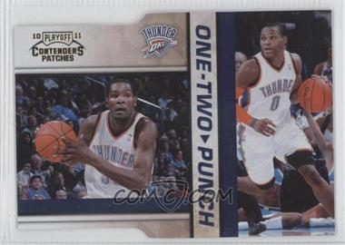2010-11 Playoff Contenders Patches One-Two Punch Gold Die-Cut #7 - Kevin Durant, Russell Westbrook /99