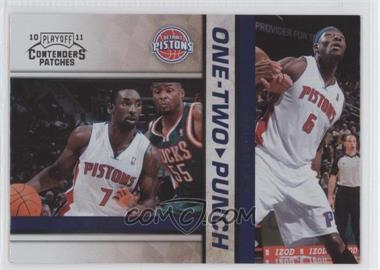 2010-11 Playoff Contenders Patches One-Two Punch #13 - Ben Gordon, Ben Wallace