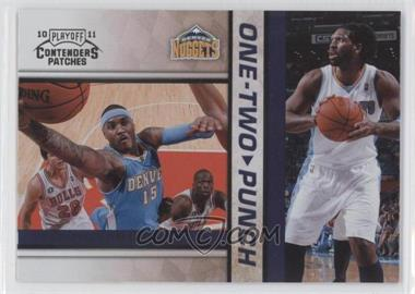 2010-11 Playoff Contenders Patches One-Two Punch #14 - Nenê, Carmelo Anthony
