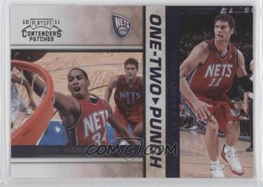 2010-11 Playoff Contenders Patches One-Two Punch #15 - Devin Harris, Brook Lopez
