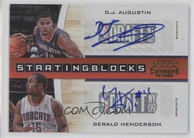 2010-11 Playoff Contenders Patches Starting Blocks Gold Autographs [Autographed] #16 - D.J. Augustin, Gerald Henderson /49