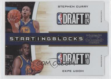 2010-11 Playoff Contenders Patches Starting Blocks Silver Die-Cut #2 - Stephen Curry, Ekpe Udoh /299